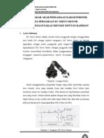 Mencari Gain Pada Dc Servo Motor Dengan Menggunakan Metode Newton Raphson