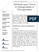 Méthodes Pour Tracer Le Pentagramme Et l'Hexagramme