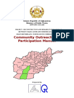 Community Outreach Manual for Chah-E Anjir to Gereshk Road Project