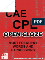 Open Cloze - Most Common Words and Expressions (Cov)