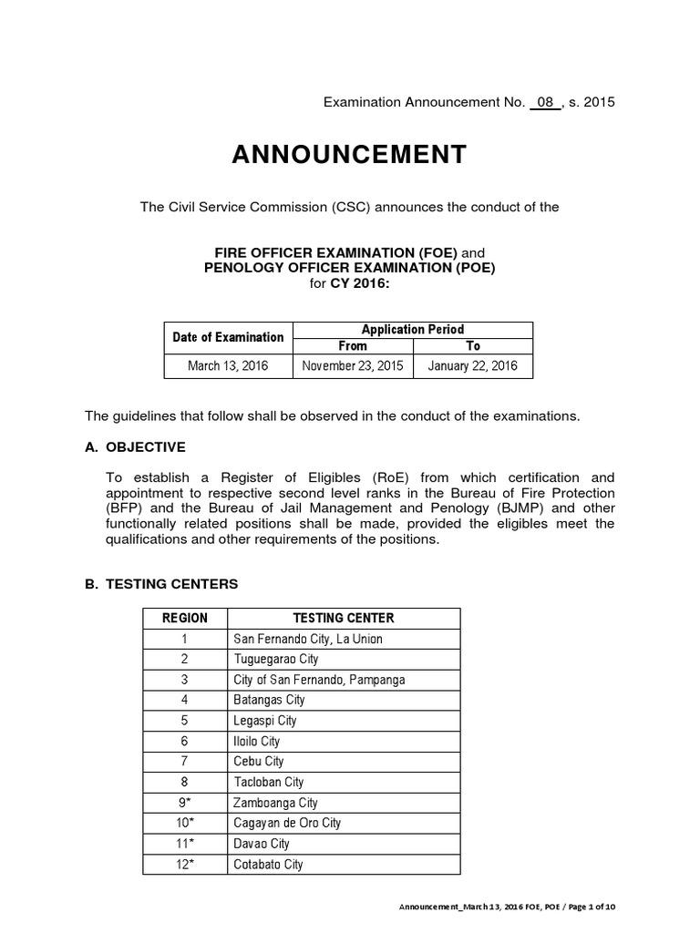 Announcement FOE,POE 2016-0313 a (1)   Identity Document   Test (Assessment)