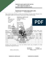 Contoh Surat Keterangan Kartu Keluarga - Word - MPFdocuments Website Indonesia