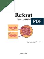 Infectia Cu Virusul Herpetic