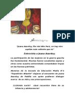 Entrevista a Juana Azurduy