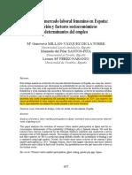 Análisis Del Mercado Laboral Femenino en España