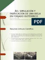 Diseño, Simulación y Fabricación de Una Biela