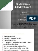 Pemeriksaan Biometri Mata