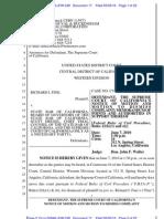 USDC - Dkt 17 [STRICKEN] - Calif Supreme Court's Motion to Dismiss 5-3-10