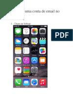 Adicionar Uma Conta de Email No iPhone