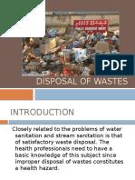 Disposal of Wastes