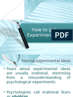 Chapter 3-How to Get an Experimental Idea