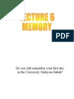 Lecture 6 Memory 14 Oktober - Copy