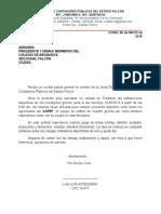 Carta de Solicitud de Instalaciones Deportivas 2016