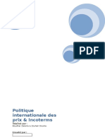 La Politique International de Prix