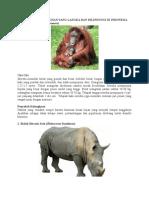 Hewan Dan Tumbuhan Yang Langka Dan Dilindungi Di Indonesia