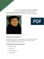 Concepto de Reforma y enmienda constitucional