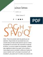 Las Quince Letras _ Nexos16