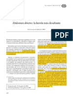 Abdomen Abierto - La Herida Más Desafiante