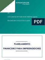 Endeavor Planejamento Financeiro