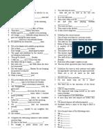 Form 1 English Language Practice 1