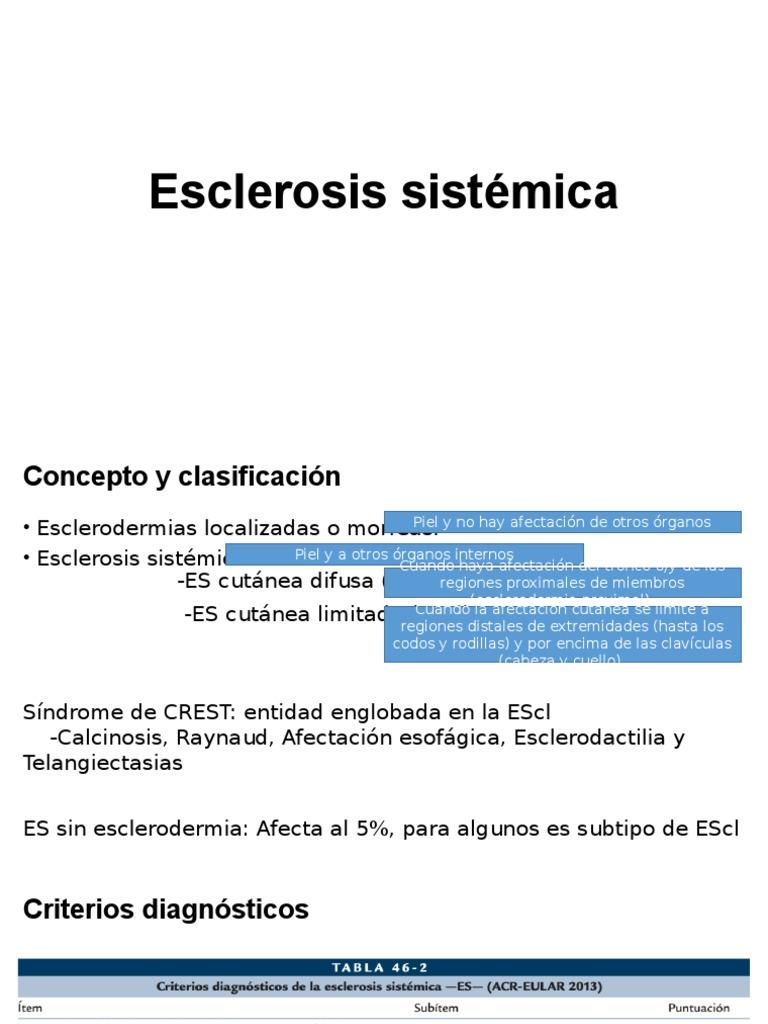 descripcion esclerosis cutánea