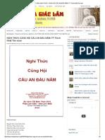 Chùa Giác Lâm_ Nghi Thức Cúng Hội Cầu an Đầu Năm–Tt Thích Nhật Tân Soạn