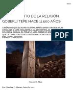 El nacimiento de la religión. Göbekli Tepe hace 11.500 años | EL FENICIO DIGITAL