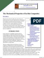 The Mechanical Properties of in-Situ Composites