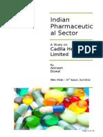Report MOR Pharma Industry Final CADILA