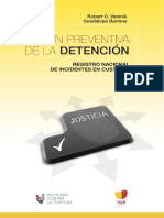 Gestion Preventiva de La Detencion. Registro nacional de incidentes en custodia