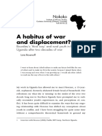 3 Rosenoff Lara 2010 a Habitus of War and Displacement Bourdieu's 'Third Way' and Rural Youth in Northern Uganda After Two Decades of War Nokoko 1 (1)