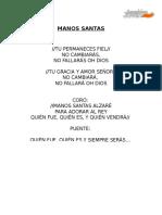 Manos Santas (Letra) 1024