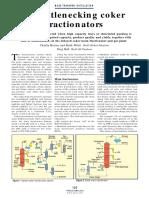 debottlenecking- fractionator