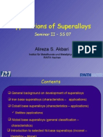 Applications of Superalloys