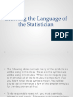 Understand Statistical Symbols