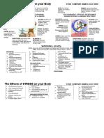 Efectele Stesului Poster (Engleza)