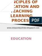 Principles 20of 20education 20and 20teaching 20learning 20process 140101032605 Phpapp01