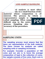Sampling and Sample Handling