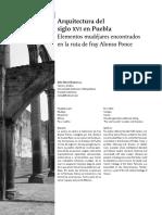 Arquitectura en El Siglo XVI en Puebla