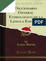 Diccionario General Etimológico de La Lengua Española 1400021847