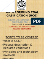 Underground Coal Gasification (Ucg)