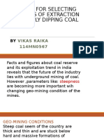 Selecting Methods of Extraction of Steeply Dipping Coal Seam