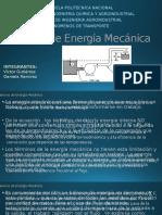 Balance de Energía Mecánica1