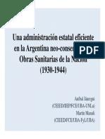 OSN. Una administración estatal eficiente (Argentina 1930-1943)