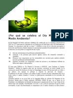 Tips Dia Mundial Medio Ambiente 5 Junio de 2012