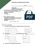 Guia de Fracciones Multiplicación y División