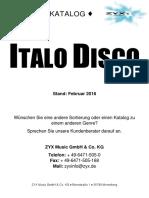 Italo Disco - Zyx Music