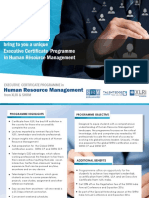 Executive Programme HRM From XLRI and SHRM- Sept'15