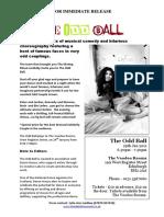 The Odd Ball Press Release