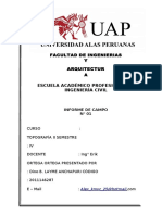 informe nivelacion uap